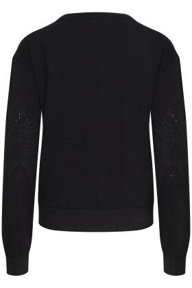 PULZ - Pz-Kerry - Sweatshirt - Broderie Anglaise - Sort