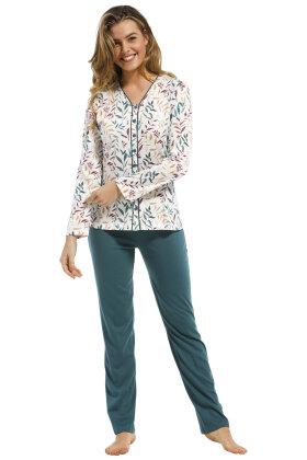 PASTUNETTE - Pyjamas Floral Print - Grøn