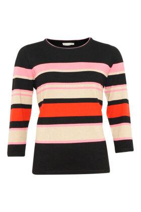 MICHA - Strikbluse - Blokstriber - Pink