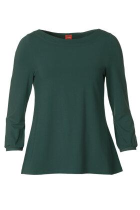 DU MILDE - DuAlberta Basic - Langærmet T-shirt - Mørkegrøn