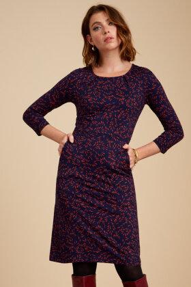 KING LOUIE - Mona Dress Sheppey - Slim Fit - Kjole - Mørkeblå