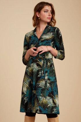 KING LOUIE - Emmy Dress Devon - Floral Print Kjole . Sort