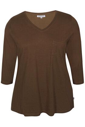ZHENZI - Alberta 301 - T-shirt - Brun