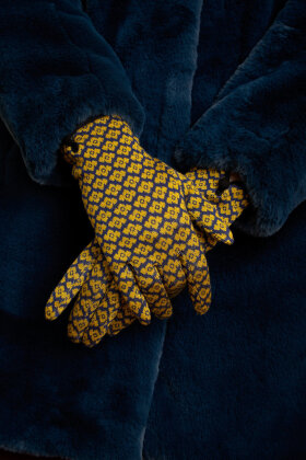 KING LOUIE - Glove Lunna  - Strik Handsker - Blå