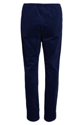 SIGNATURE - Fløjlsbukser - Smalle Riller - Mørkeblå