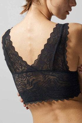 FEMILET - Floral Touch - Blonde Bh Top - Sort
