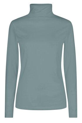 SOYACONCEPT - Sc-Pylle 5 - Basis Rullekrave Bluse - Grøn