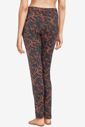 FEMILET - Yara Pyjamas Bukser - All-Over Print - Mørkegrå