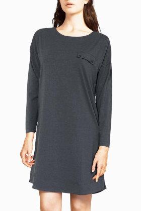 FEMILET - Luna Big Shirt - Natkjole - Mørkegrå