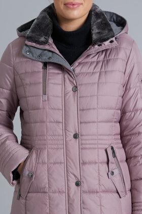 JUNGE - Estella Dunlook Jakke - Quiltet Middel Lang - Blush Rosa