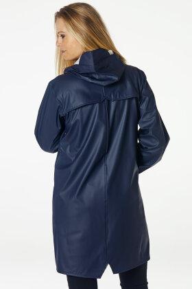 WINDFIELD - Swept Rain Jacket - Regnjakker - Mørkeblå