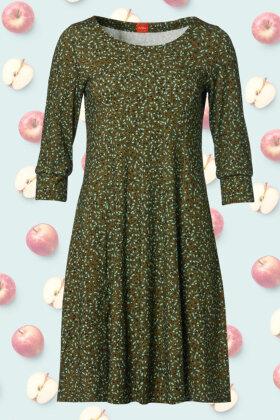 DU MILDE - Spotless DuNinna - Jersey Print Kjole - Army Grøn