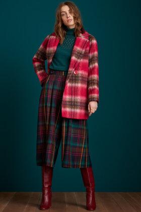 KING LOUIE - Amelie Coat Brody Check - Uldjakke - Pink