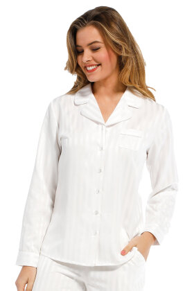 PASTUNETTE - Pyjamas Bomuldssatin - Off White