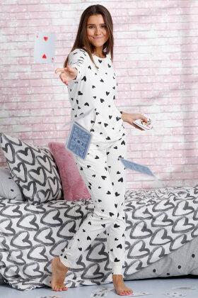 REBELLE - Hjerte Pyjamas - Off White