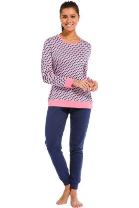 REBELLE - Grafisk Pyjamas - Pink
