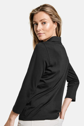 GERRY WEBER - Casual T-shirt - Prima Bomuld -  Sort