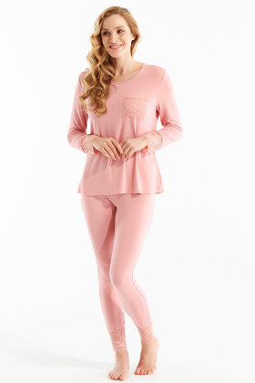 DAMELLA - Enkel Let Pyjamas - Rosa