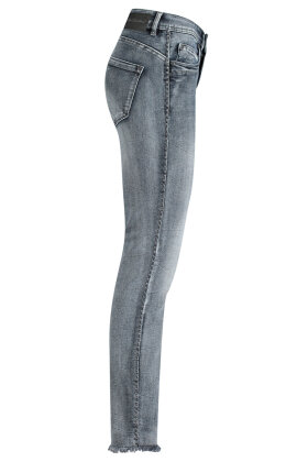 RED BUTTON - Laila Blue & Black Embroidery Jeans  - Slim Fit - Blå -Sort
