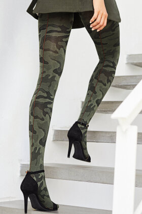 HYPE the DETAIL - Camouflage Tights - 120 D - Strømpebukser - Army Grøn