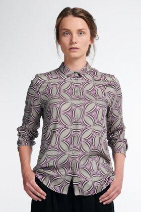 ETERNA - Viskose Skjorte - Classic Fit - Grå