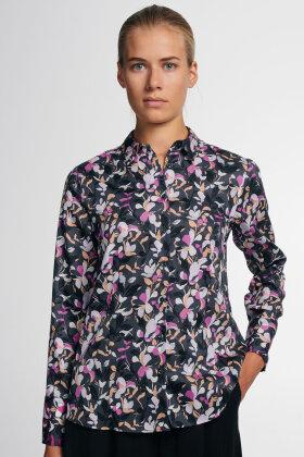 ETERNA - Frisk & Farverig Print Skjorte - Classic Fit - Lilla