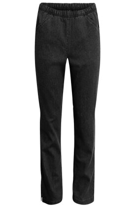 SIGNATURE - Løse Stræk Jeans - Elastisk Linning - Sort Demin