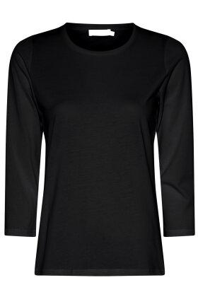 MICHA - Basis T-shirt - Trekvart Ærmer - Sort
