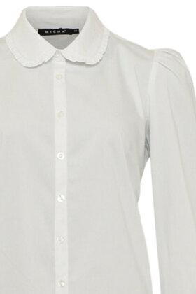 MICHA - Skjorte - Flæser & Stræk - Hvid