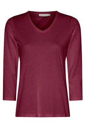 MICHA - Trekvartærmet Basis T-shirt - Cerise