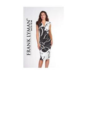 FRANK LYMAN - Black & Off White Printed Dress