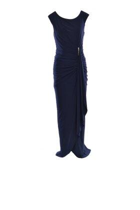 FRANK LYMAN - Ruched Navy Dress